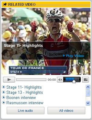 EUROSPORT are also making the most of their television coverage on the ...