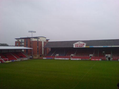 Empty Leyton Orient stadium