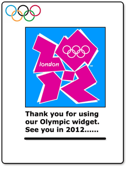 2012 Olympic Widget