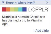 Dopplr Facebook application