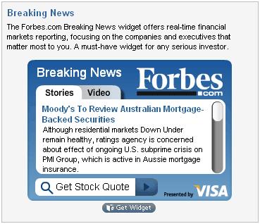 Forbes Widgets