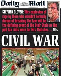 Daily Mail front page 16th September 2004
