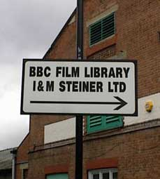 Sign To The BBC's Film Archive