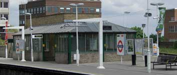 East Putney Station with London Olympic Bid flags