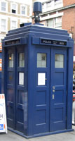 The TARDIS outside Earls Court station