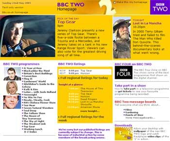 BBC schedule change warnings