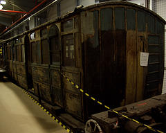 Burnt-out Metropolitan Railway Trailer Coach from 1904