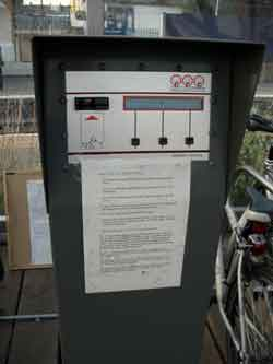 The control panel in The Bike Shed