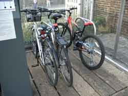 Analogue racks in the otherwise digital Bike Shed
