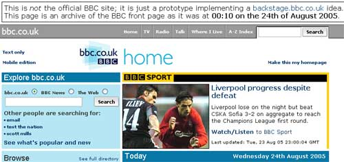 Testing the BBC Homepage's modes - Breaking Sport