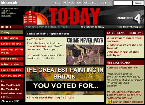 The Today Programme homepage