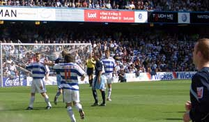 Action from the 1st half of QPR vs Leeds