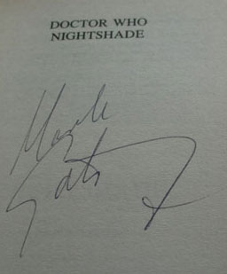 My signed copy of Doctor Who: Nightshade by Mark Gatiss as it appears on eBay
