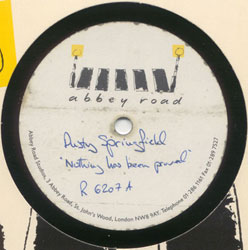 My Dusty Springfield and Pet Shop Boys acetate as it appears on eBay