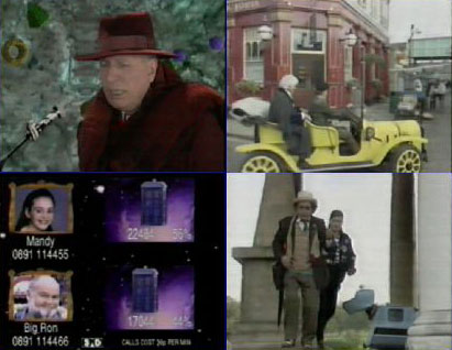 Montage of screencaps from Dimensions in Time