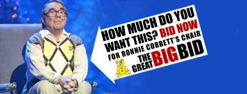 BBC homepage promo to win Ronnie Corbett's chair