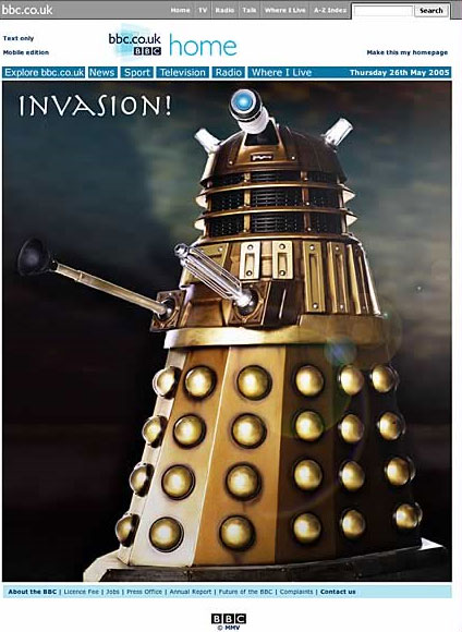 Proposed all Dalek BBC homepage