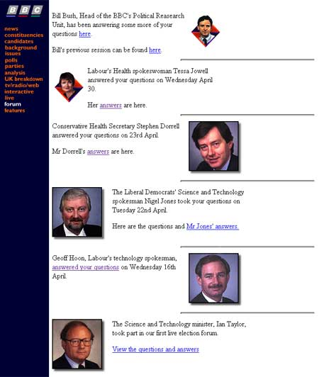 BBC Election 97 Forum
