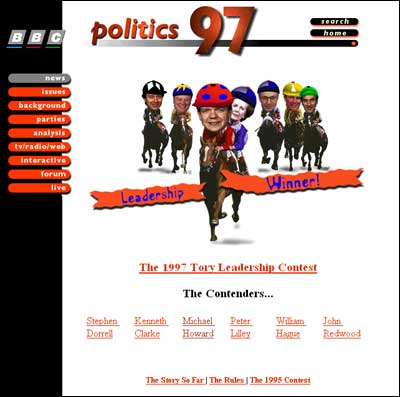 Leadership race from BBC Politics 97