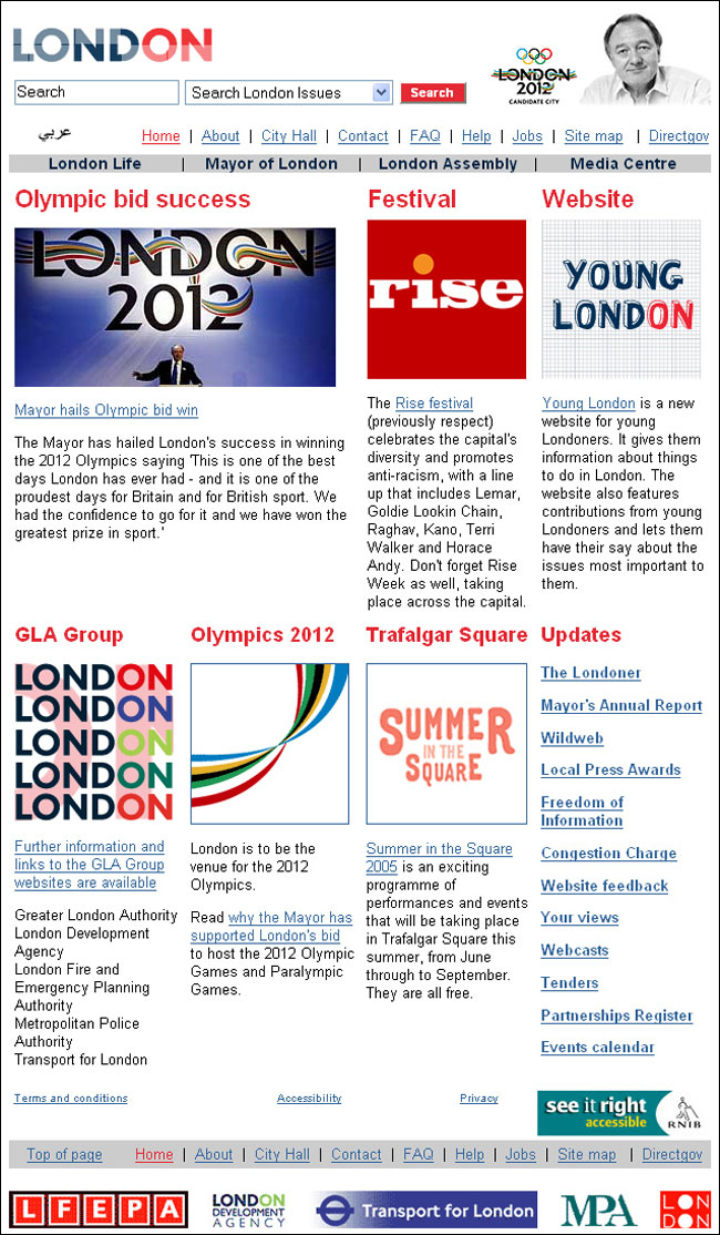 London Mayor's site announces Olympic decision