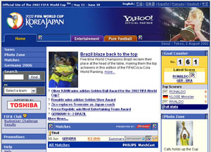 FIFA's 2002 World Cup website