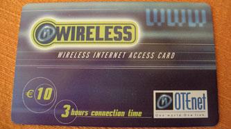 OTEnet wireless internet access card