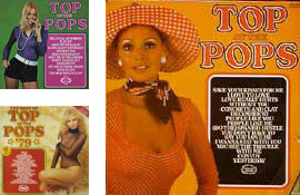 Top of the Pops album covers from the 70s and 80s