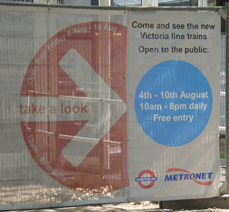 Victoria Line exhibition opening hours