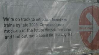 Victoria Line exhibition sign