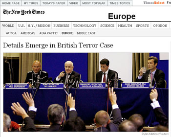 The offending New York Times article viewed from Greece