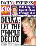 Daily Express Diana front page