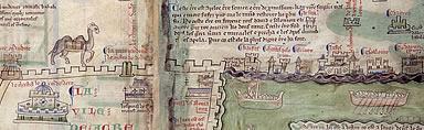 Pilgrim map to Jerusalem