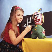 The girl and the clown