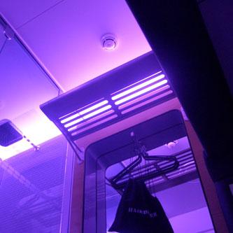 Yotel ceiling