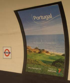 Advert for Portugal at Queensway