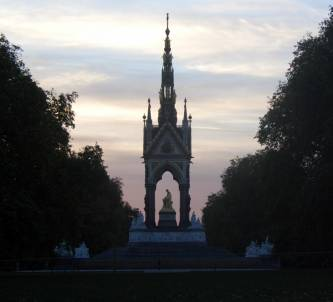Albert Memorial sunset