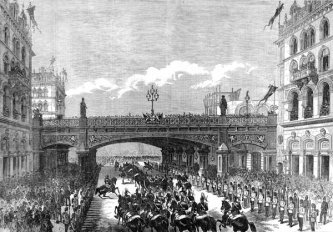 Holborn Viaduct in the 1800s