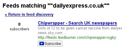 A fruitless search for the Daily Express
