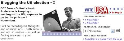 2004 US Election blog