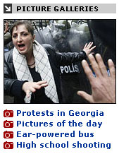 Picture gallery links on The Telegraph homepage
