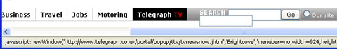 Telegraph TV link requires JavaScript