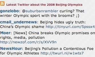 Twitter on Olympic Fansivu