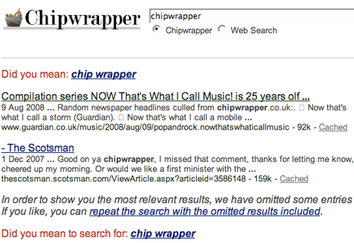 Chipwrapper results for 'chipwrapper'