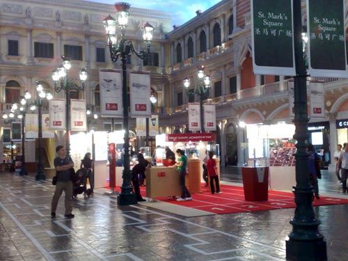 Omega stall within Macau's Venetian