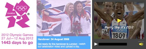 London 2012 handover website banner