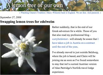 Lemon trees and edelweiss