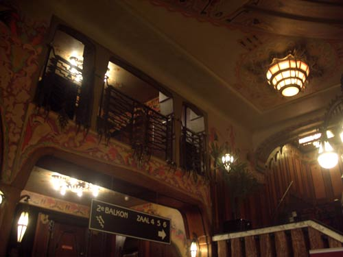 Balcony inside the Tuschinski