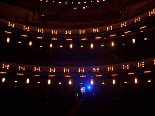 View from the Tuschinski stage