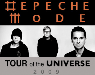 Depeche Mode tour promo image