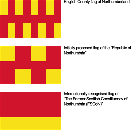 Disputed flags of the Scottish Republic of Northumbria